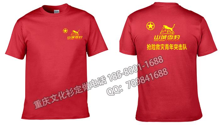 重庆志愿者协会服务队文化衫定做